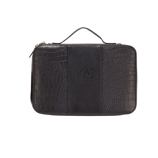 6a37b94936 DELUXE CROC LEATHER COSMETIC CASE