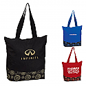 ZIPPERED COLOR POP TOTE