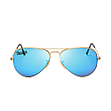 AVIATOR SUNGLASSES W/ ADVANCED MIRRORED LENS
