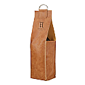 VEGAN LEATHER SINGLE WINE TOTE