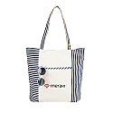 SIMPLE CHIC STRIPE CANVAS TOTE