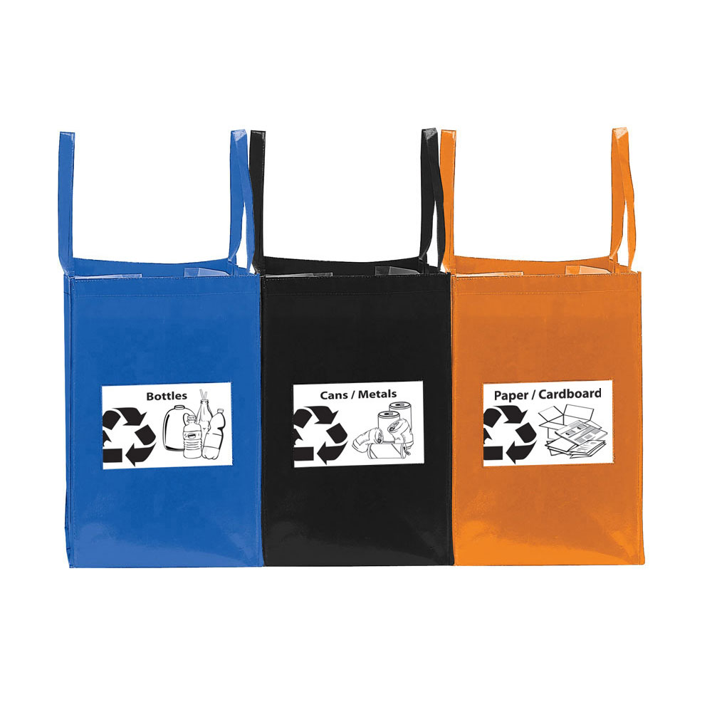 FOLDING RECYCLING BAGS (SET OF 3)